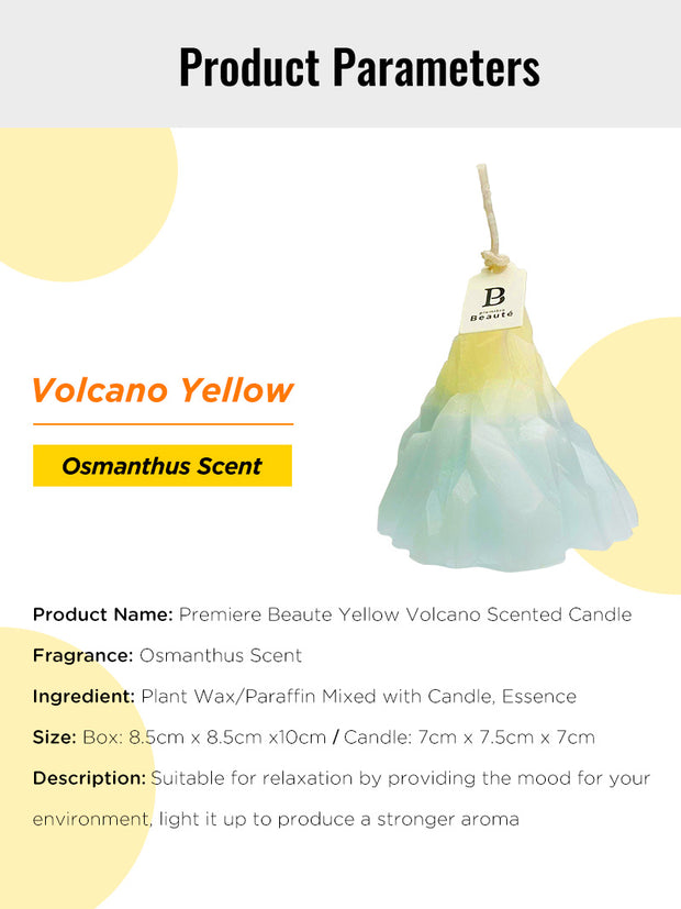 yellow volcano scented candle