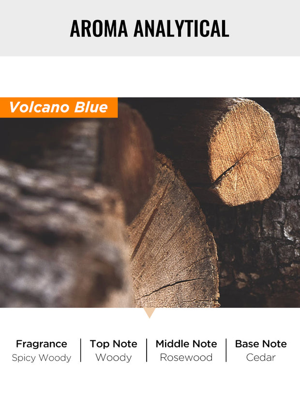 blue volcano scented candle