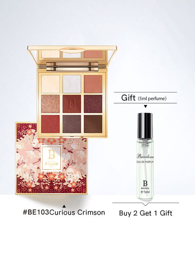 <b> All-in-one Eye Shadow Palette 9 Color Curious Crimson Buy 2 get 1 gift</b><br>