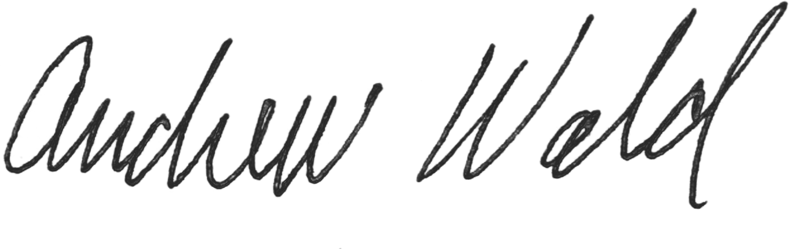 Andy Wald Signature