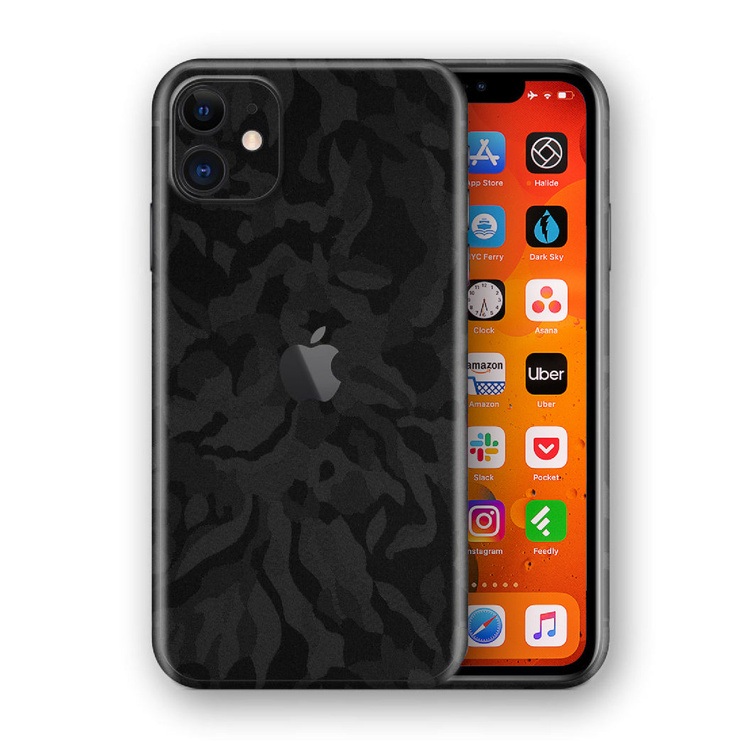 iPhone 11 Shadow Black Camo 3D Textured Skin