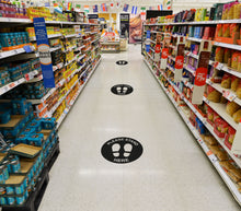 Load image into Gallery viewer, Covid 19 Safety Decals for Shop Floor
