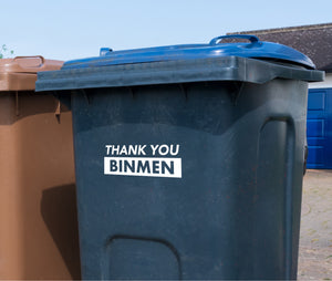 Thank You Binmen Decal Sticker for Bins