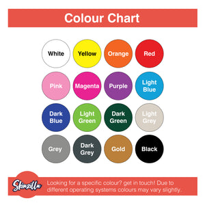 Skinzilla Colour Chart