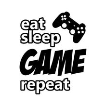 Load image into Gallery viewer, Eat Sleep Game Repeat Wall Decal