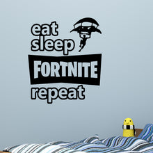 Load image into Gallery viewer, Eat Sleep Fortnite Repeat Wall Decal