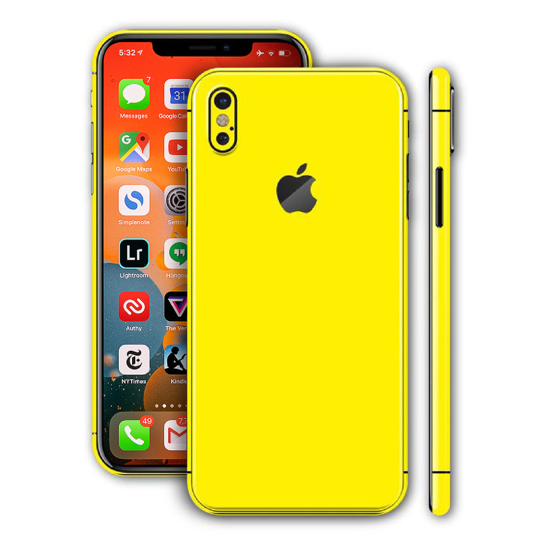 iPhone X Gloss Lucid Yellow Skin