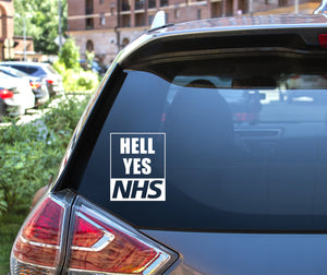 Hell Yes NHS Decal