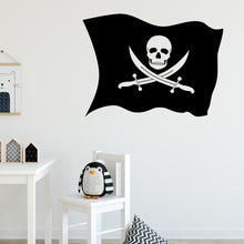 Load image into Gallery viewer, Pirate Flag Wall Decal