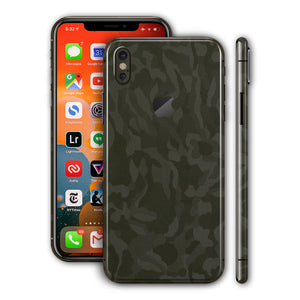 iPhone XS Shadow Green Camo 3D Textured Skin