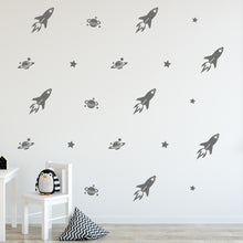 Load image into Gallery viewer, Space Wall Decals for Childrens Room