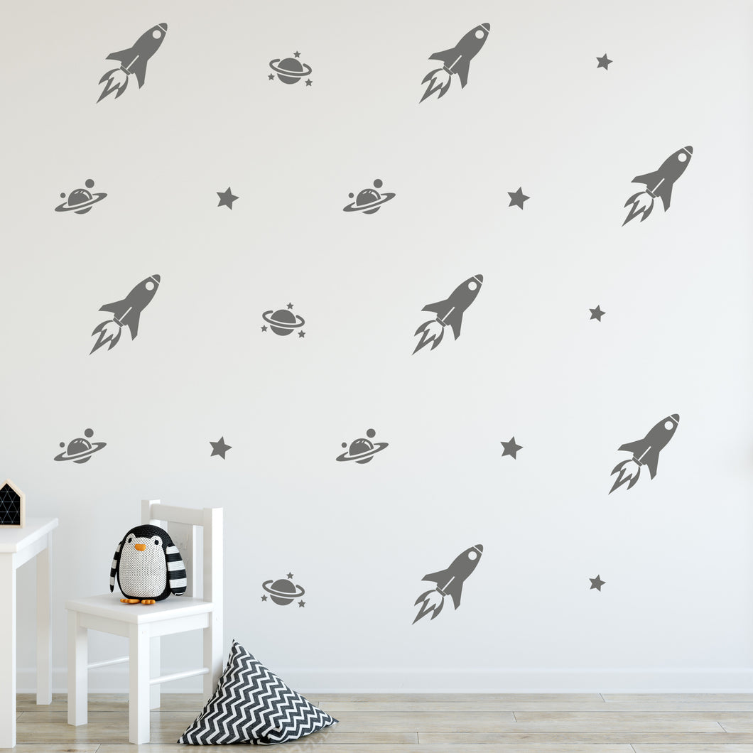Space Wall Decals for Childrens Room