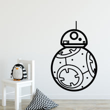 Load image into Gallery viewer, BB8 Star Wars Wall Decal