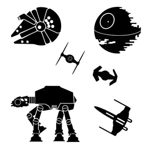 Star Wars Millennium Falcon Battle Scene Wall Decals
