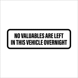 Anti Theft Car Decal