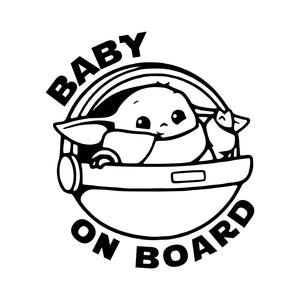 Star Wars Baby on Board Vehicle Decal | Baby Yoda