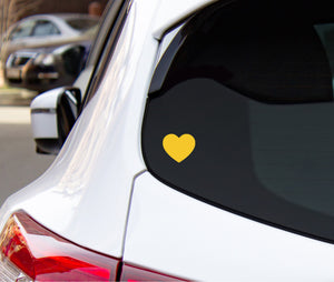 Small Yellow Heart Decal