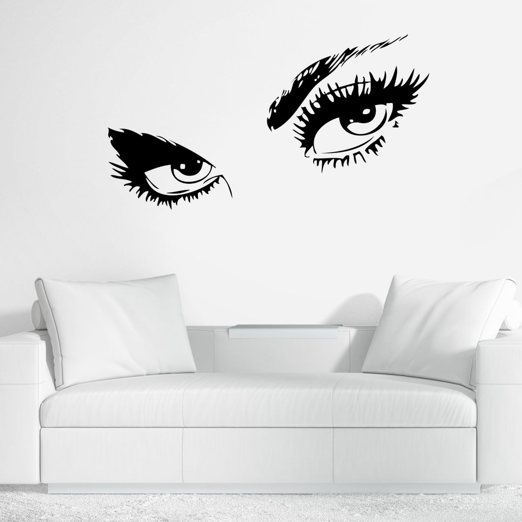 Eyes and Eyelashes Wall Decal