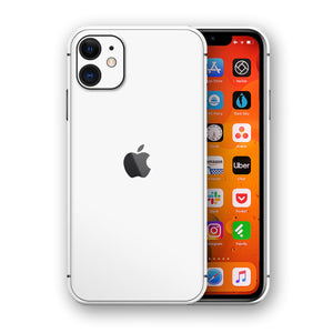 iPhone 11 Matt White Protective Phone Skin