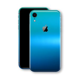 iPhone XR Phone Skin Caribbean Shimmer Flip Colour Satin
