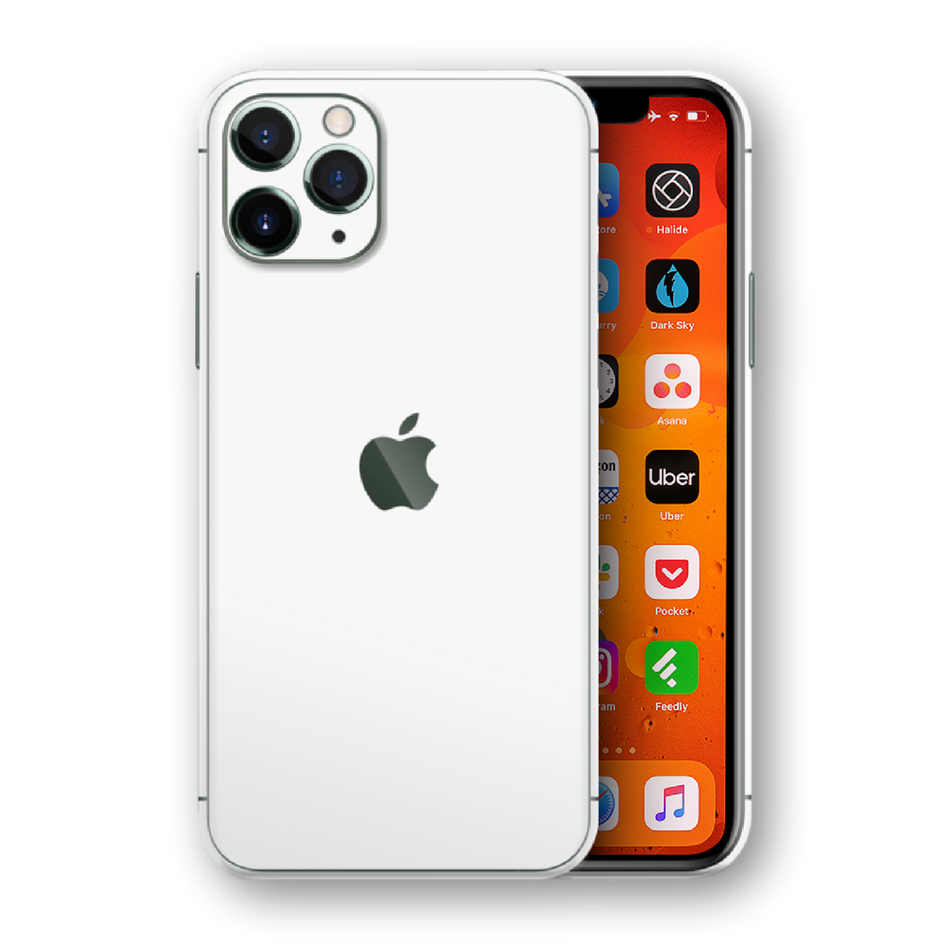 White Protective Skin for iPhone 11 Pro