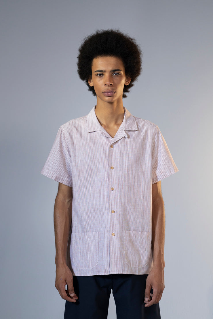 unfeigned short sleeve shirt style 1 rust stripes