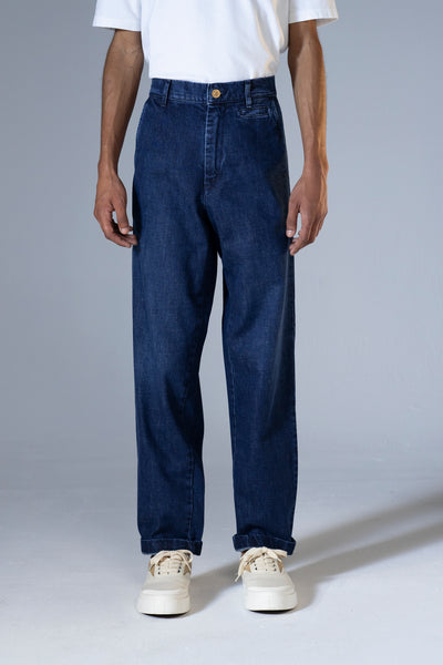 unfeigned jeans indigo denim