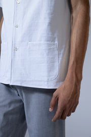 unfeigned short sleeve shirt style 1 recycled blue