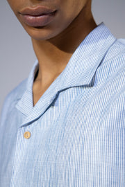 unfeigned short sleeve shirt style 1 blue stripes