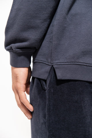 unfeigned basic sweatshirt blue graphite