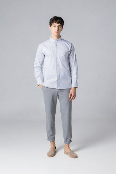 long sleeve shirt style 1 oxford grey stripes
