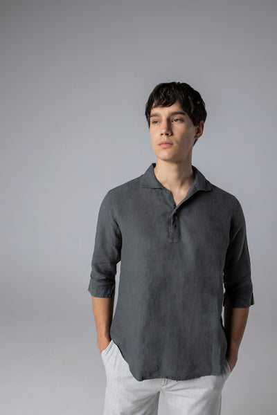 polera shirt linen dark shadow