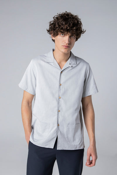 short sleeve shirt style 1 peach skin grey