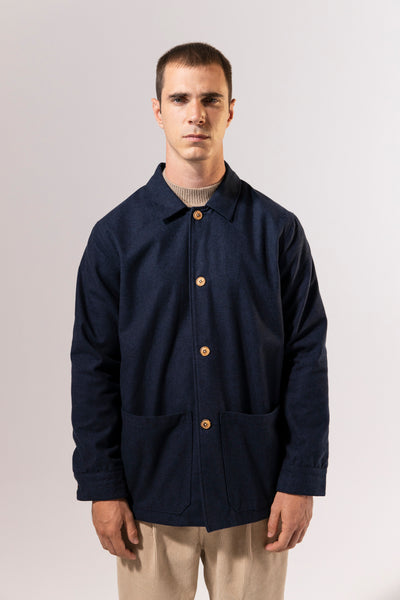 unfeigned work jacket cloth navy