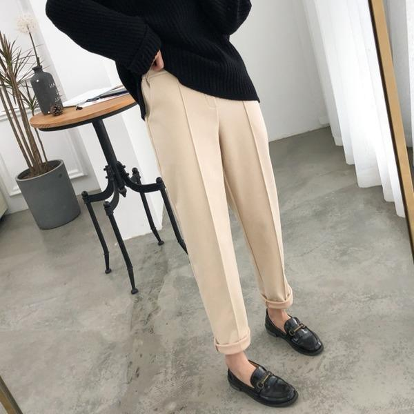 Elastic Waist Women Pencil Pants Plus Size Office Ladies Long Pants Elegant Women Trousers