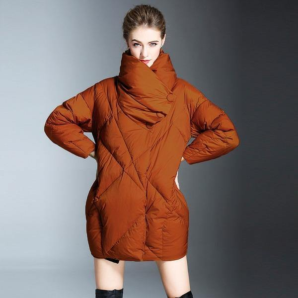 Casual Warm New Over size Clothing Pockets High Quality Women Coats