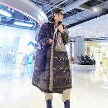Load image into Gallery viewer, Patchwork Pockets Zipper Down Coat Women 2020 Winter Casual Fashion  Style Temperament All Match Women Clothes