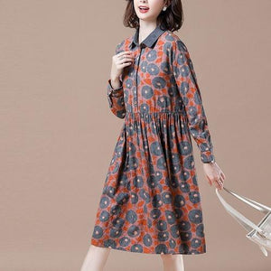 Plus Size Women Knee-length Casual Dress New 2020