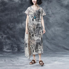 Load image into Gallery viewer, Retro Printing Loose Short Sleeve Summer Dress