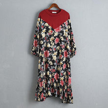 Load image into Gallery viewer, Splicing Women Dress Printed Floral Summer Dress
