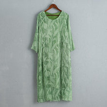 Load image into Gallery viewer, Green Cool Summer Loose Casual Women Dress
