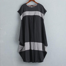 Load image into Gallery viewer, Women Summer Casual Short Sleeves Stripe Dress