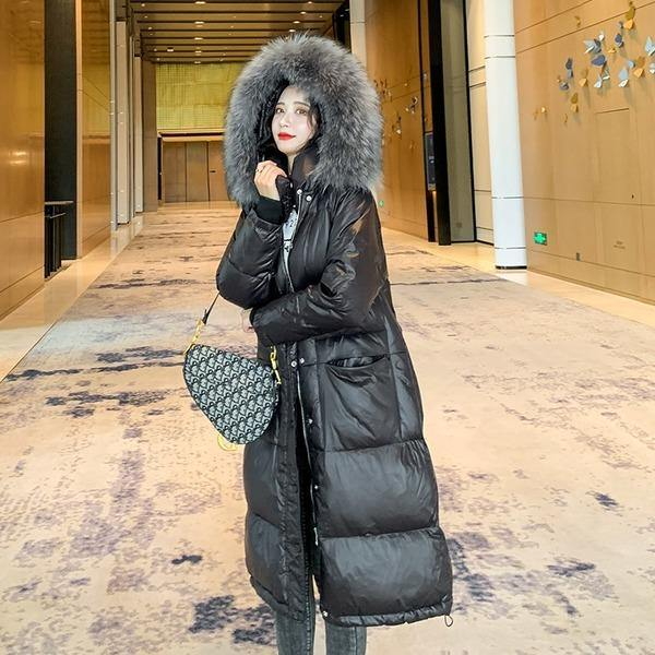 Winter Women's Plus Size Thicken Parka Female Cotton-Padded Clothes Hooded Fur Jacket