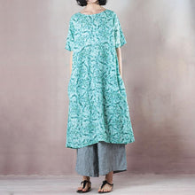 Load image into Gallery viewer, Casual Round Neck Green Short Sleeve Loose Dress