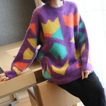 Load image into Gallery viewer, Fashion New Style O Neck Collar Long Sleeve Pullover Tie Dye Elegant Loose Top