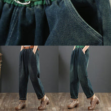 Load image into Gallery viewer, 100% orange waist trousers fall fashion thick patchwork color Outfits wide leg pants