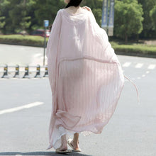 Load image into Gallery viewer, Pink Baggy Summer Cotton Dresses For Women