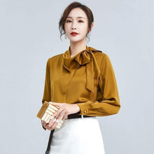 Load image into Gallery viewer, 2020 Winter Casual Fashion New Style Temperament All Match Stand Collar Blouse