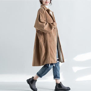 2020 New Single-breasted Turn-down Collar Warm Women Coats