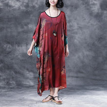 Load image into Gallery viewer, Summer Shoulder Sleeve Loose Printed Long Dress